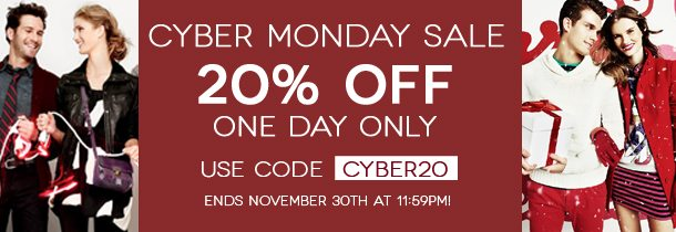 20% OFF (ONE DAY ONLY)