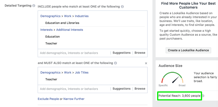 Facebook Ad Targeting Vein Clinic