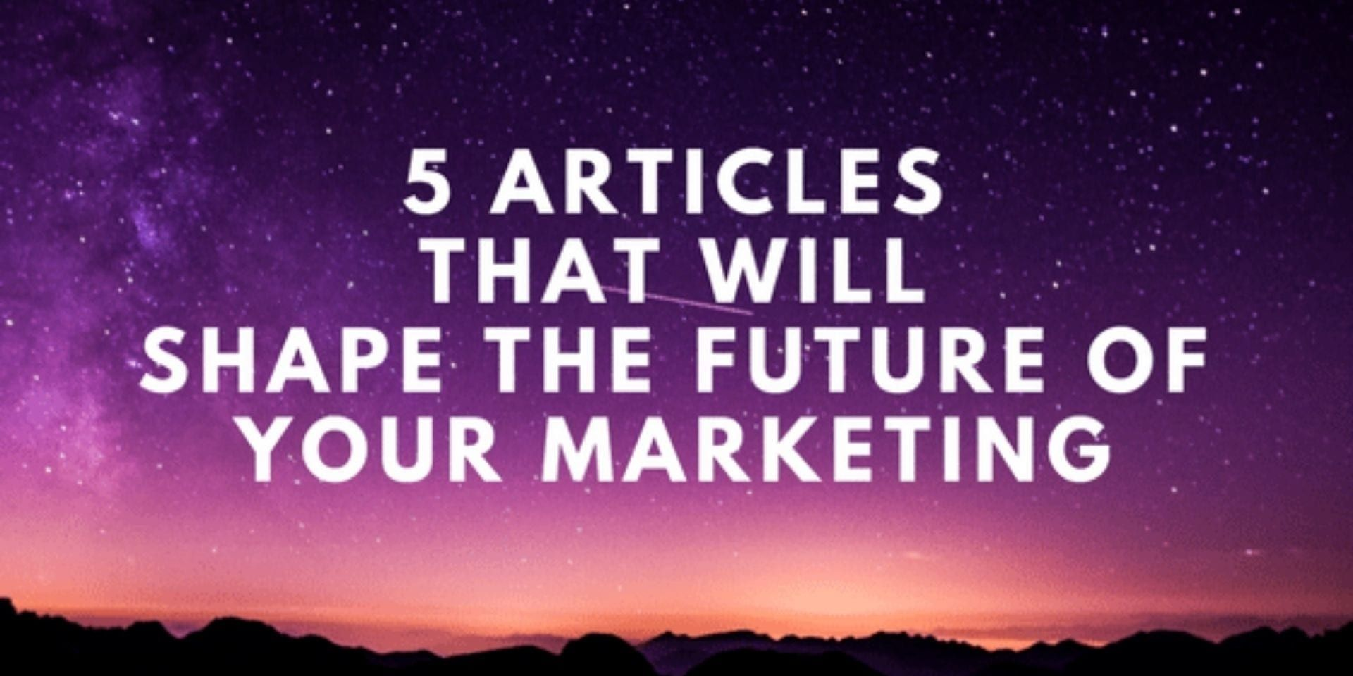 Trends that will affect the future of marketing